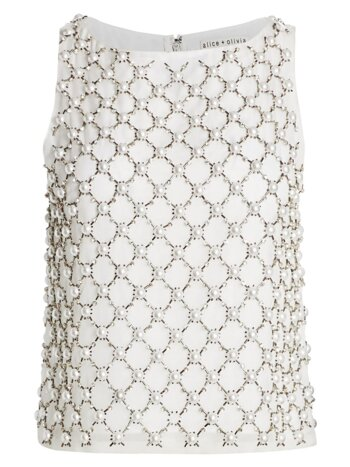 Amal Embellished Boxy Tank Top
