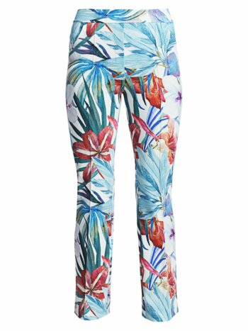 Nuccia Floral Stretch Jersey Crop Pants