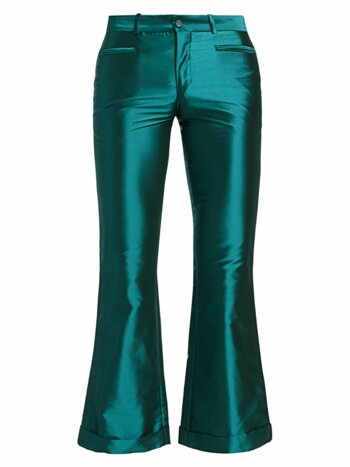 Iridescent Kick-Flare Trousers