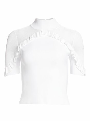 Chiara Ruffled Mockneck Top