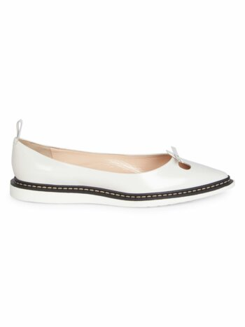 The Mouse Leather Point Toe Flats