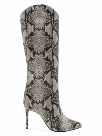 Maryana Snake-Embossed Leather Boots