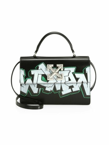 Jitney 1.4 Graffiti Leather Top Handle Bag