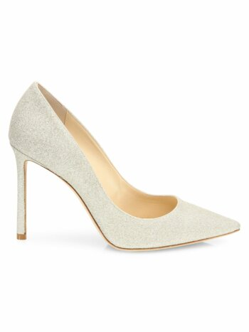 Romy Glitter Dusty Glitter Point Toe Pumps