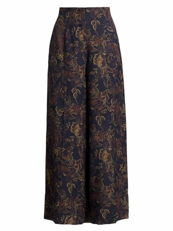 Lewis Floral Wide-Leg Pants