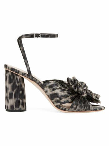 Camellia Knotted Leopard-Print Sandals
