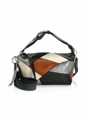 Patchwork Leather Hobo Bag