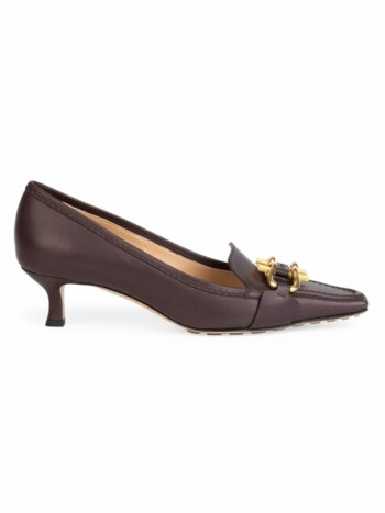 Lady Pump Buckle Leather Loafers
