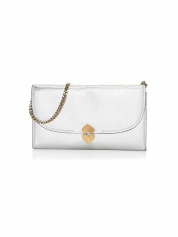 Lula Metallic Leather Clutch