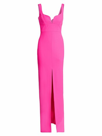 Linza Empire Waist Column Gown