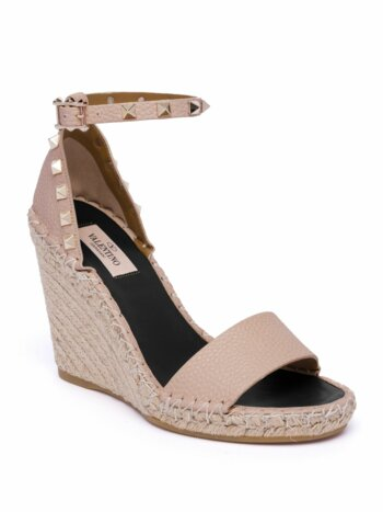 Rockstud Espadrille Wedge Sandals