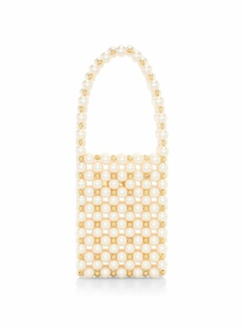 Inflorescence The Sicilia Faux Pearl Top Handle Bag