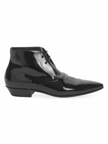 Jonas Patent Leather Lace-Up Booties