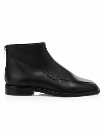 Alexa Leather Loafer Ankle Boots