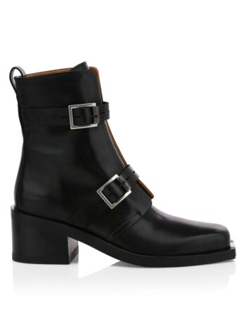 Fallon Buckle Leather Moto Boots