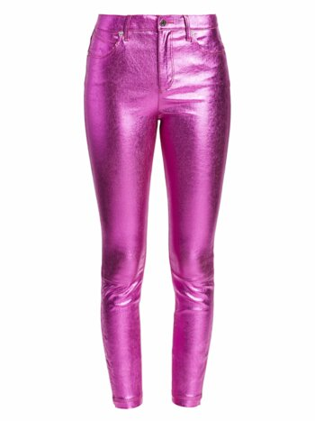 Madrid Metallic Leather Pants