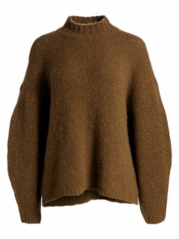 Oversized Alpaca-Blend Turtleneck Sweater