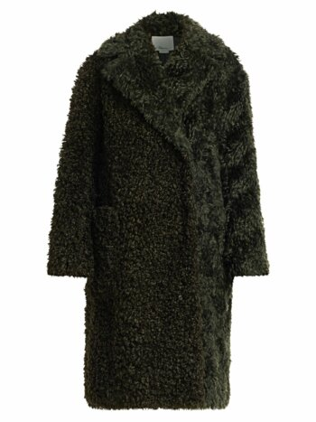 Faux Shearling Mohair Coat