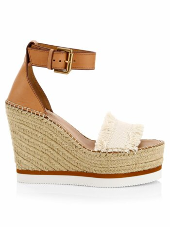 Glyn Denim Espadrille Wedge Sandals