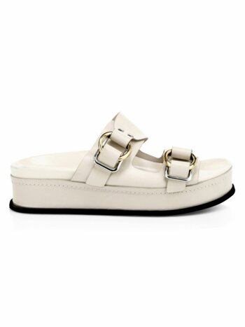Freida Buckled Platform Slides