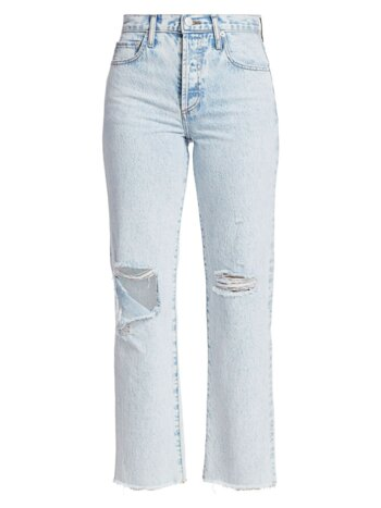 Amazing High-Rise Distressed Boyfriend Jean