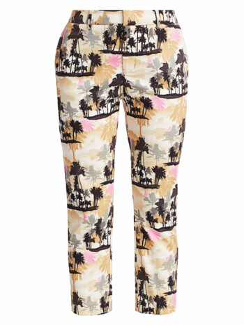 Coastal Tropical-Print Pants