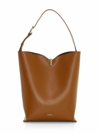 Ribbon Leather Hobo Bag