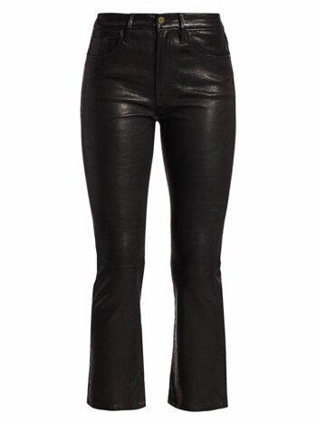 Le Crop Mini Boot Leather Jeans