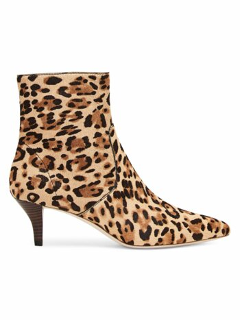 Kassidy Leopard-Print Calf Hair Ankle Boots