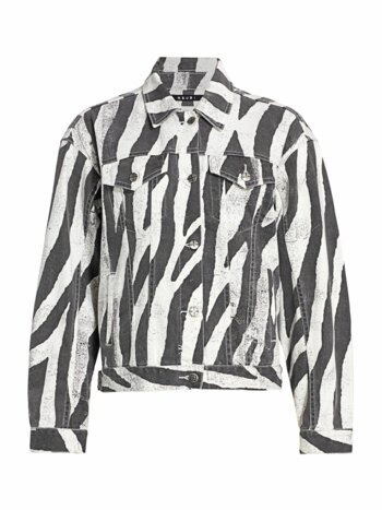 Zebra Trucker Jacket