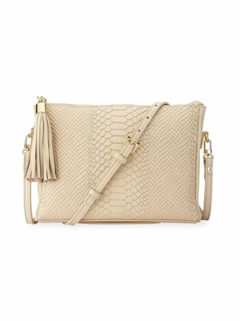 Hailey Python-Embossed Leather Crossbody Bag
