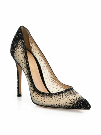Crystal-Embellished Pumps