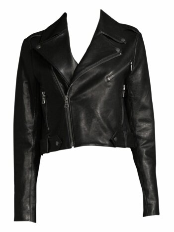 Cody Leather Crop Jacket