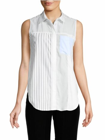 Sleeveless Button-Down Shirt