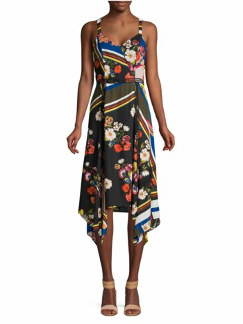 Ellenore Handkerchief Midi Dress
