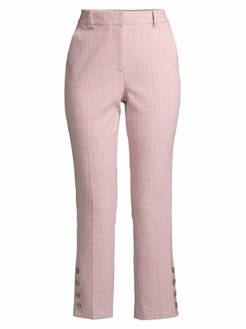 Rose Plaid Trousers