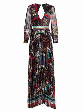 Cheney Printed Pleated Maxi Dress
