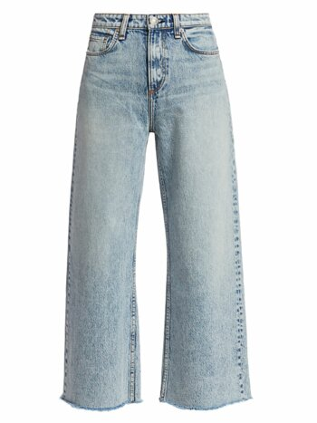 Ruth Super High-Rise Ankle Wide Leg Jeans