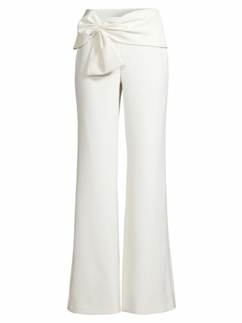 Whitley Bow-Detailed Wide-Leg Pants