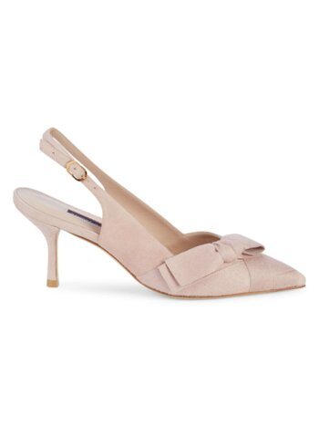 Jennifer Suede Bow Slingback Pumps