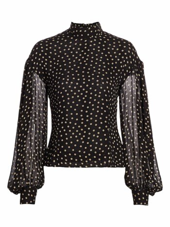 Dotted Georgette Top
