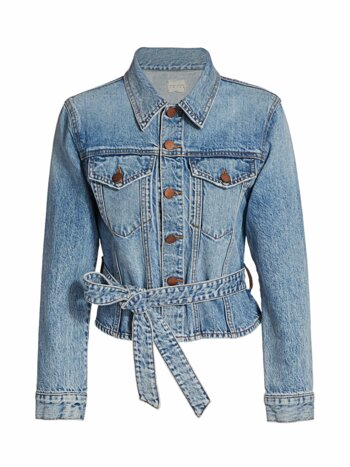 Teresa Cinch Waist Denim Jacket
