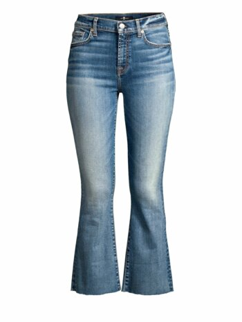 High-Rise Crop Kick Flare Jeans