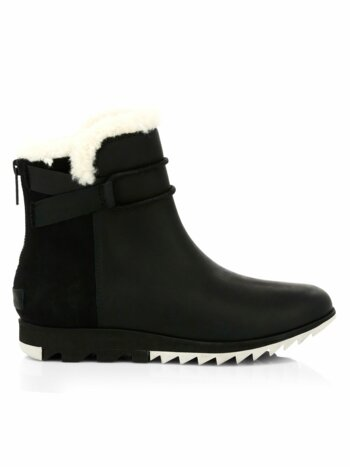 Harlow Shearling Waterproof Leather Booties
