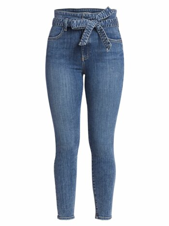 Good Wrap Waist High-Rise Skinny Jeans
