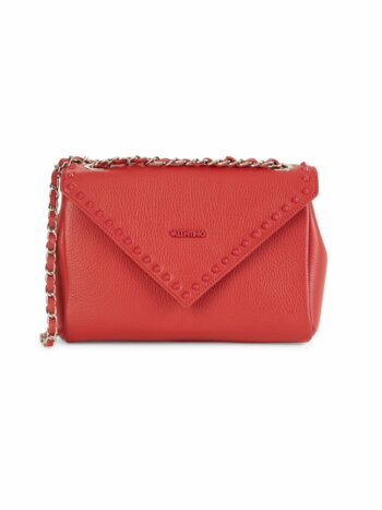 Felicity Studded Flap Leather Crossbody Bag