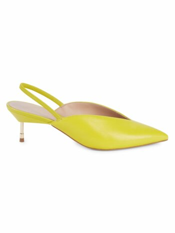 Battersea Leather Slingback Pumps