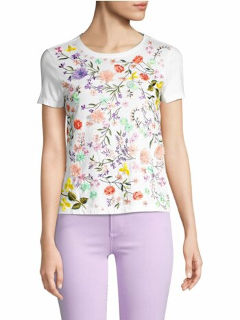 Rylyn Embellished Floral T-Shirt