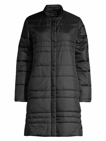 Channeled Recycled Nylon Quilted Car Coat