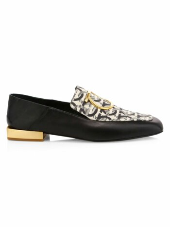 Lana Leather & Cotton Loafers